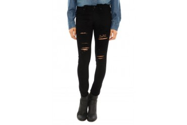 Chloe Destructed Jean in Stardust - designed by A Gold E