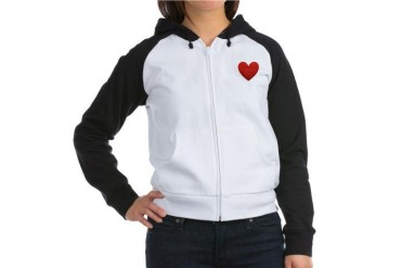 I Love Golf Sports Women's Raglan Hoodie by CafePress
