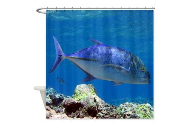 Bluefin Trevally Animals Shower Curtain by CafePress