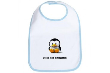 LINUX KID GROWING: Baby Bib by CafePress