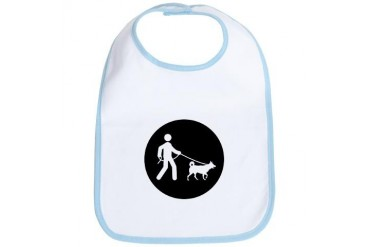 Dog Walking Funny Bib by CafePress