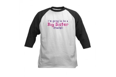 I'm Going To Be A Big Sister Baseball Jersey