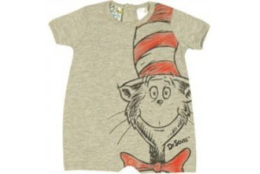 Dr. Seuss Cat in the Hat Sketch Snap Suit