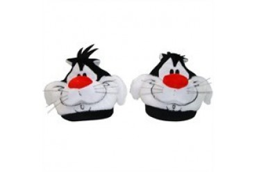 Looney Tunes Sylvester the Cat Plush Head Slippers