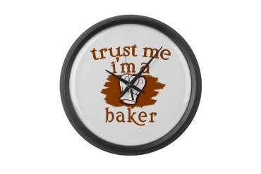 Trust Me I'm a Baker Baker Large Wall Clock by CafePress