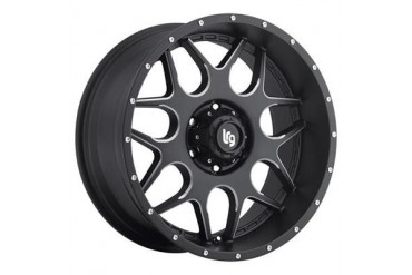 Lrg Rims LRG 104, 20x9 with 6 on 5.5 Bolt Pattern - Black and Milled 10429083900 LRG Rims