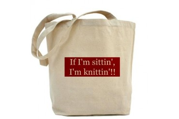 Double-sided knitting bag Knitting Tote Bag by CafePress
