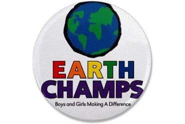 Earth Champs Patch Earth 3.5 Button by CafePress