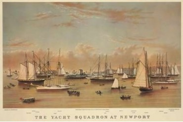 The Yacht squadron at Newport 1872 Poster Print by Unknown (24 x 36)