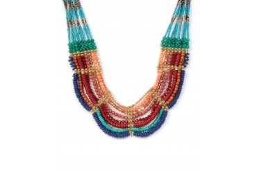 Nakamol Jewel Tone Multi Row Necklace Multi