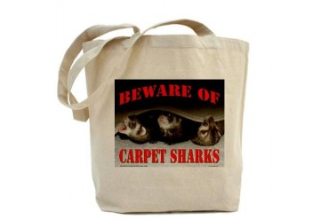 Carpet Shark Funny Tote Bag by CafePress