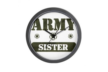 Army Sister Army Wall Clock by CafePress
