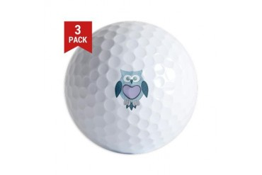 Blue Winter Owl Animal Golf Balls by CafePress