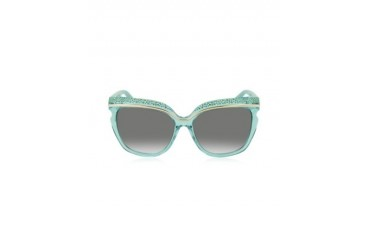 SOPHIA/S DSLN6 Crystal and Aqua Green Acetate Women's Sunglasses