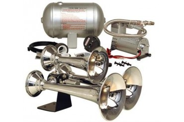 Kleinn Train Horns Complete triple train horn package with 150 psi sealed air system HK6 Kleinn Complete Kits