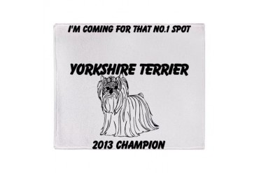 Yorkshire Terrier No.1 Spot Stadium Blanket Yorkie Throw Blanket by CafePress