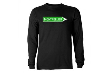 Roadmarker Montpellier - France Long Sleeve Dark T French Long Sleeve Dark T-Shirt by CafePress