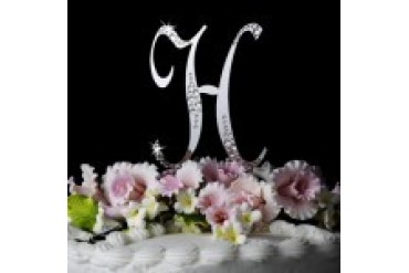 Elegance By Carbonneau - Style Sparkle Crystal Initial Cake Top