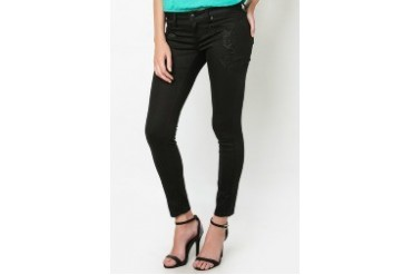 Embroidered Accent Icon Skinny