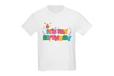 It's My Birthday Letters Kids Light T-Shirt