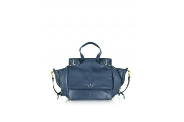 Johan Petrol Blue Leather Shoulder Bag