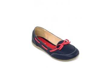 Gisa Boat Shoes Ballerina with Bow