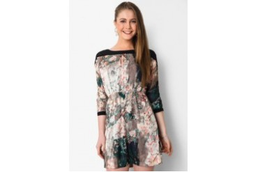 Urban Twist Flowery Asian Mini Dress