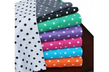 Polka Dot 600-Thread-Count Duvet Cover Set With Shams, Cotton Rich