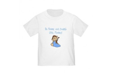 Mommy, Daddy's Monkey(blue) Toddler T-Shirt