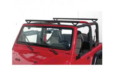 Olympic 4x4 Products Quick n Easy Rack in Gloss Black for LJ Wrangler Unlimited 908-131 Roof Rack