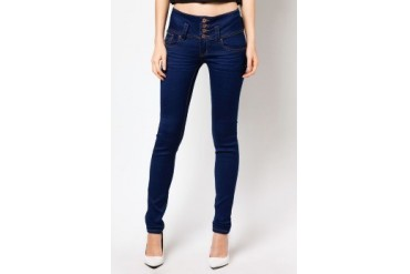 RED High Waist Skinny Jeans