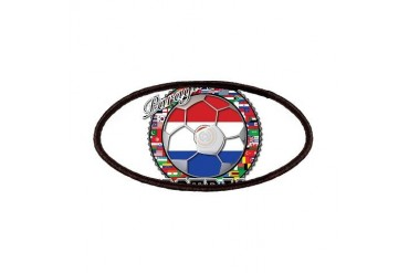 Paraguay Flag World Cup Football Ball with World F Flag Patches by CafePress