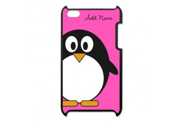 Add NAME Pink Penguin iPod Touch 4 Case