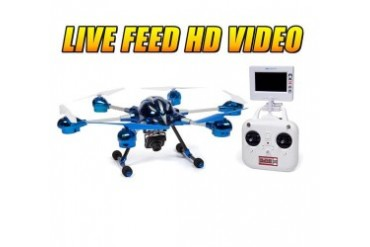 Alpha 6-Rotor 4.5Ch 2.4GHz RC Camera Spy Drone
