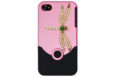 Diamond Dragonfly Jewelry iPhone 4 Slider Case
