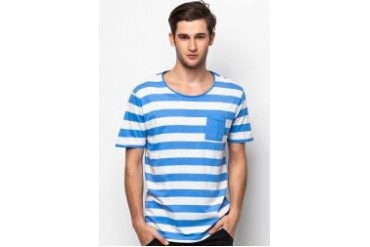 Selected Dave Striped Crew Neck T-Shirt