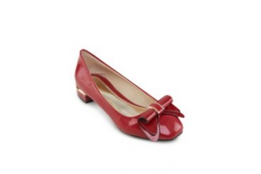 Delila Patent Rolled Bow Flats
