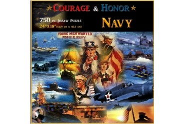 Navy Courage and Honor 750 Piece Puzzle