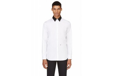 Dsquared2 White Contrast Collar Shirt