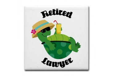 Retired Lawyer Gift Retirement Tile Coaster by CafePress
