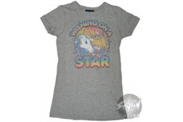 Rainbow Brite Wishing on a Star Baby Doll Tee by JUNK FOOD
