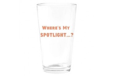 Spotlight? Band Drinking Glass by CafePress