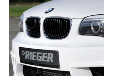 Rieger Front Grill after facelift LH ChromeBlack BMW E8288 11-13