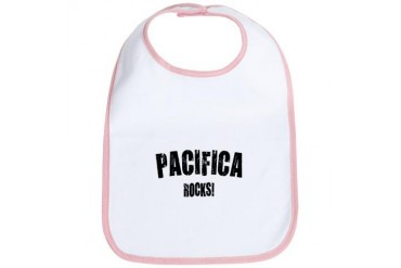 Pacifica Rocks California Bib by CafePress