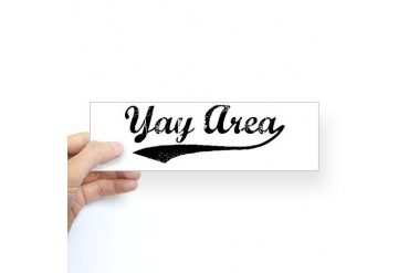 Vintage Yay Area Bumper Sticker Hyphy Sticker Bumper by CafePress