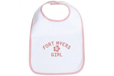 Fort Myers Pink Girl Florida Bib by CafePress