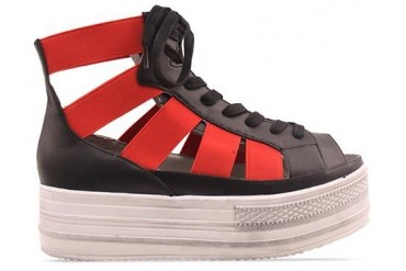 Fessura Double Star in White Black Red size 5.0