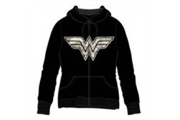 DC Comics Wonder Woman Zip UP Hooded Sweatshirt