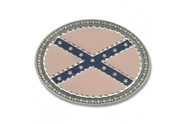 Buckle Shack Oval Rebel Confederate Flag
