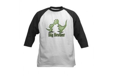 Dinosaurs Big Brother Kids Baseball Jersey